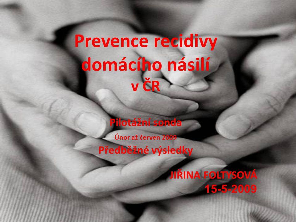 Prevence recidivy domácího násilí v ČR Pilotážní sonda Únor až červen 2009 Předběžné výsledky JIŘINA FOLTYSOVÁ 15-5-2009