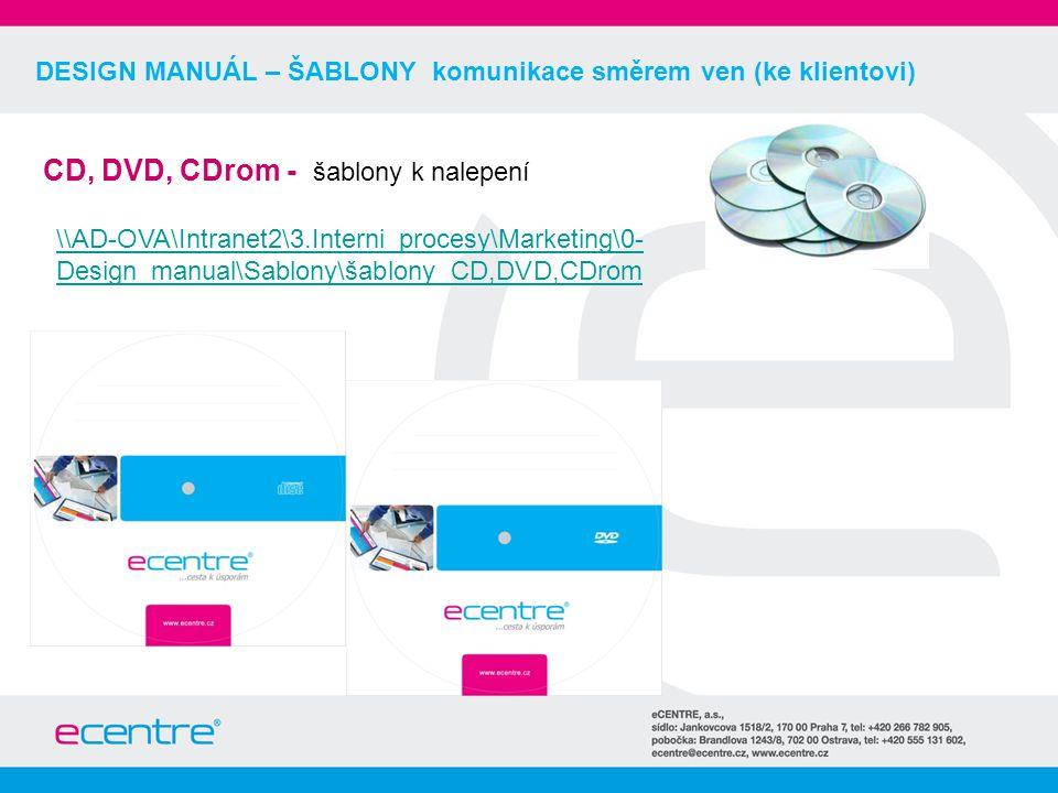 DESIGN MANUÁL – ŠABLONY komunikace směrem ven (ke klientovi) CD, DVD, CDrom - šablony k nalepení \\AD-OVA\Intranet2\3.Interni_procesy\Marketing\0- Design_manual\Sablony\šablony_CD,DVD,CDrom