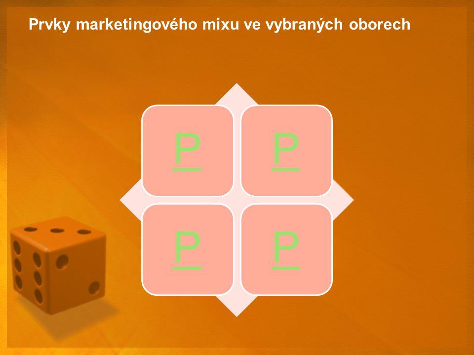 Prvky marketingového mixu ve vybraných oborech PPPP