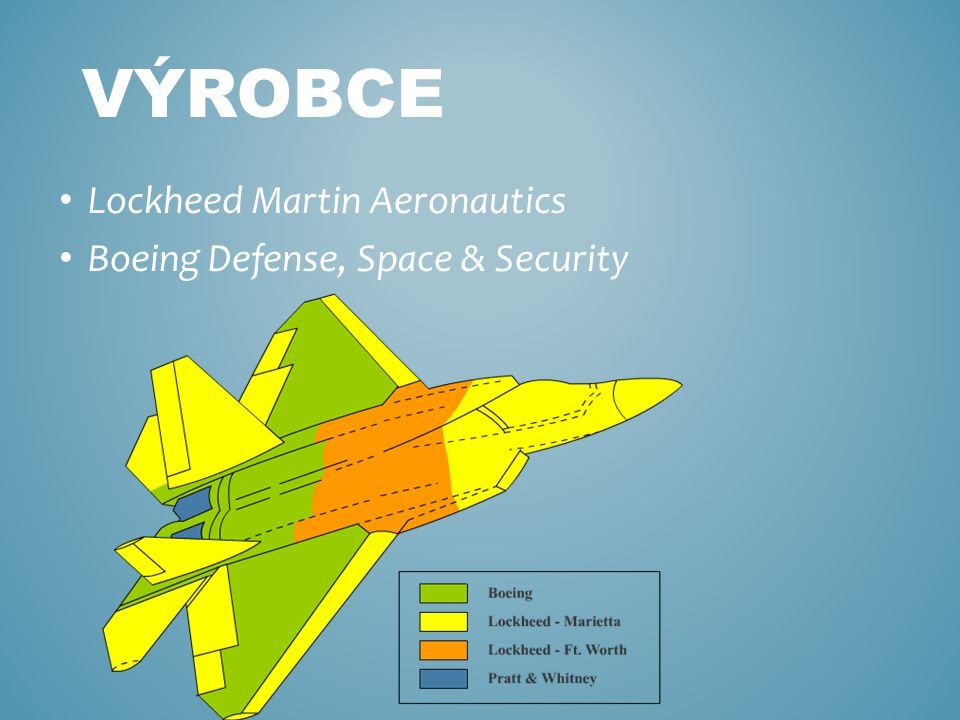 Lockheed Martin Aeronautics Boeing Defense, Space & Security VÝROBCE
