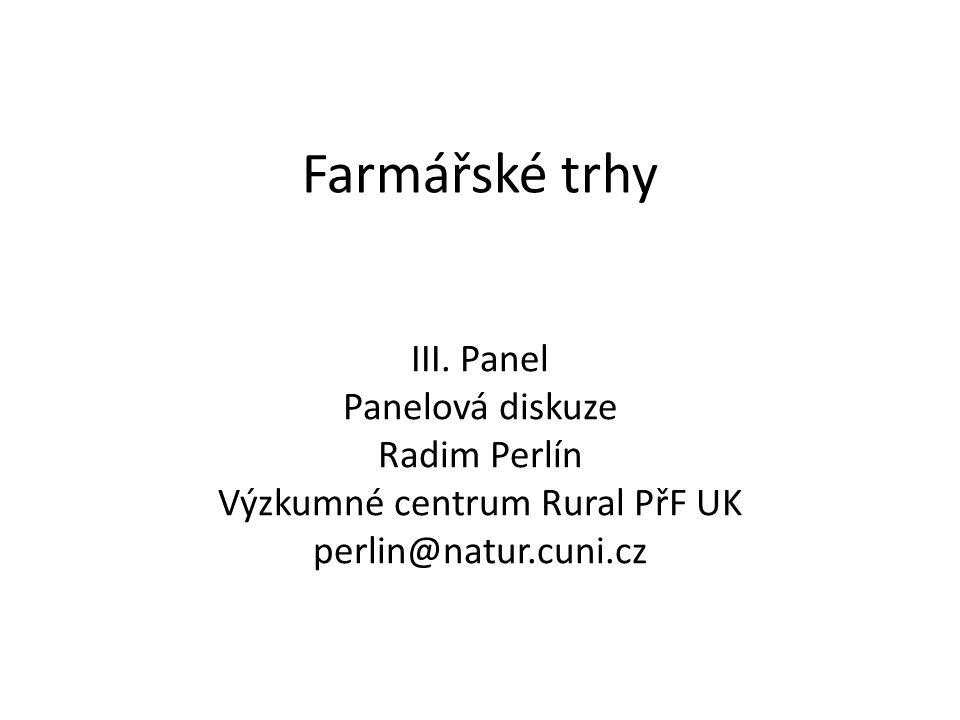 Farmářské trhy III.