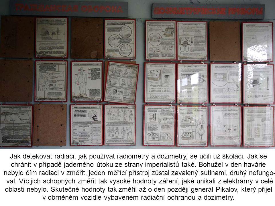 Jak detekovat radiaci, jak používat radiometry a dozimetry, se učili už školáci. Jak se chránit v případě jaderného útoku ze strany imperialistů také.