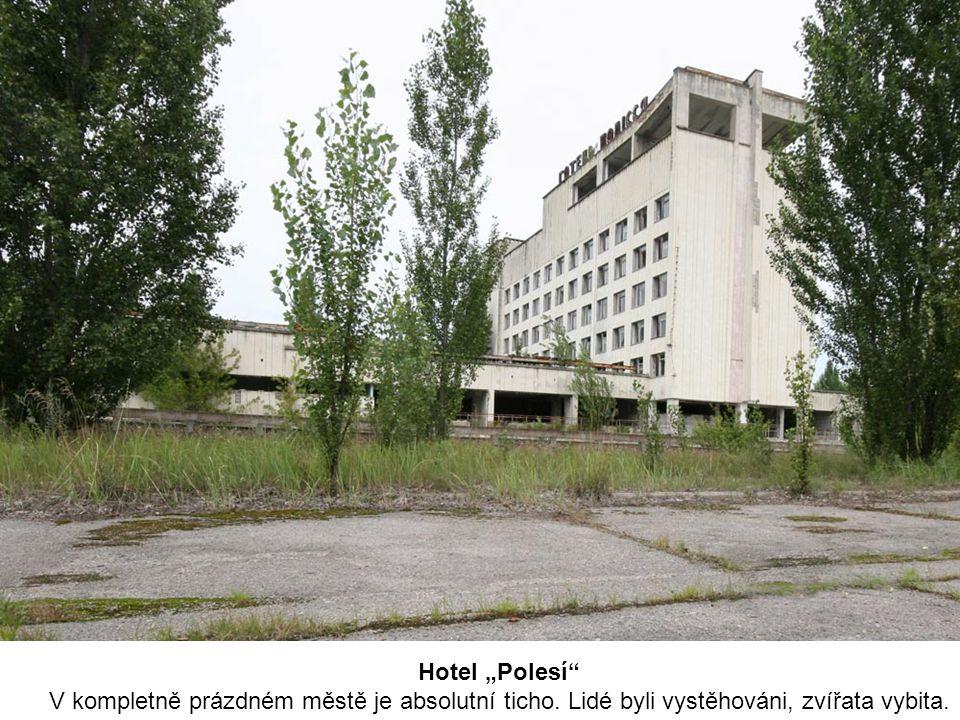 """Hotel """"Polesí"""" V kompletně prázdném městě je absolutní ticho. Lidé byli vystěhováni, zvířata vybita."""