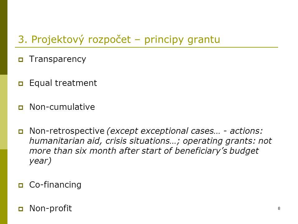 19 3.Projektový rozpočet – e.