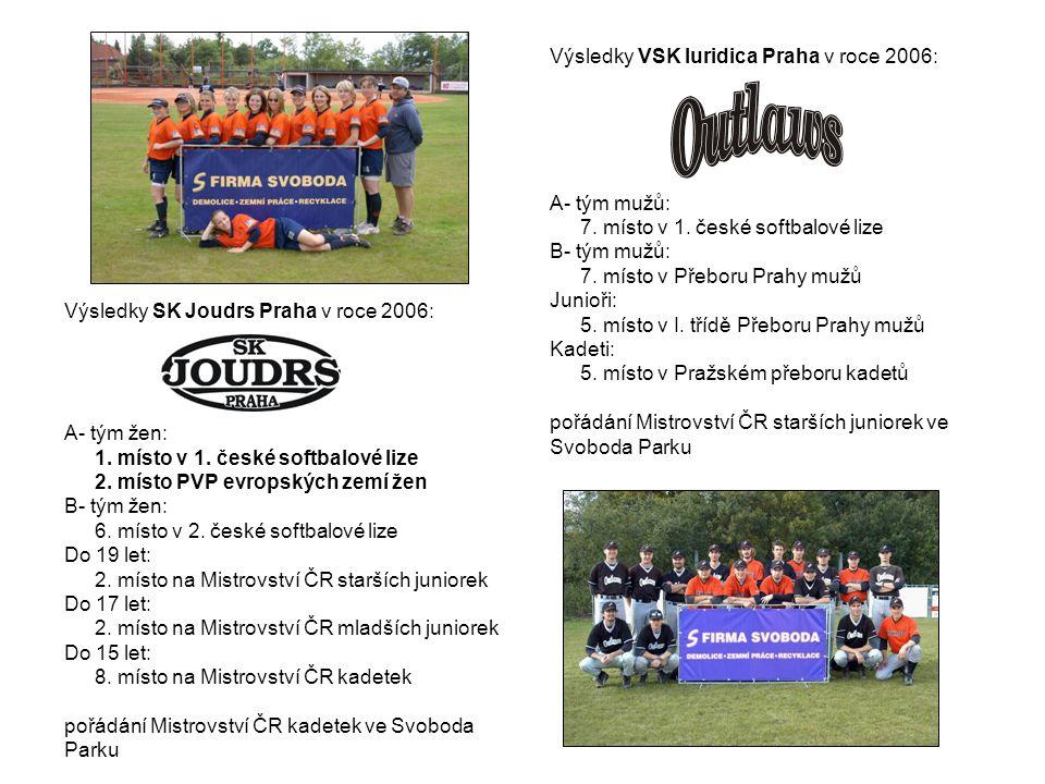 Výsledky SK Joudrs Praha v roce 2006: A- tým žen: 1.