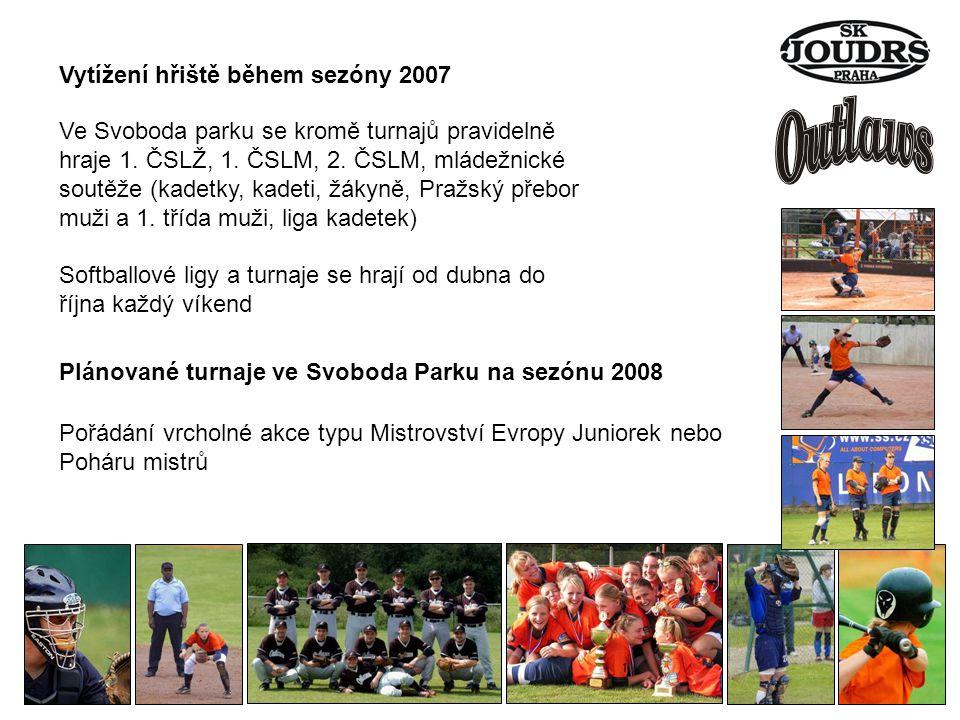 Vytížení hřiště během sezóny 2007 Ve Svoboda parku se kromě turnajů pravidelně hraje 1.