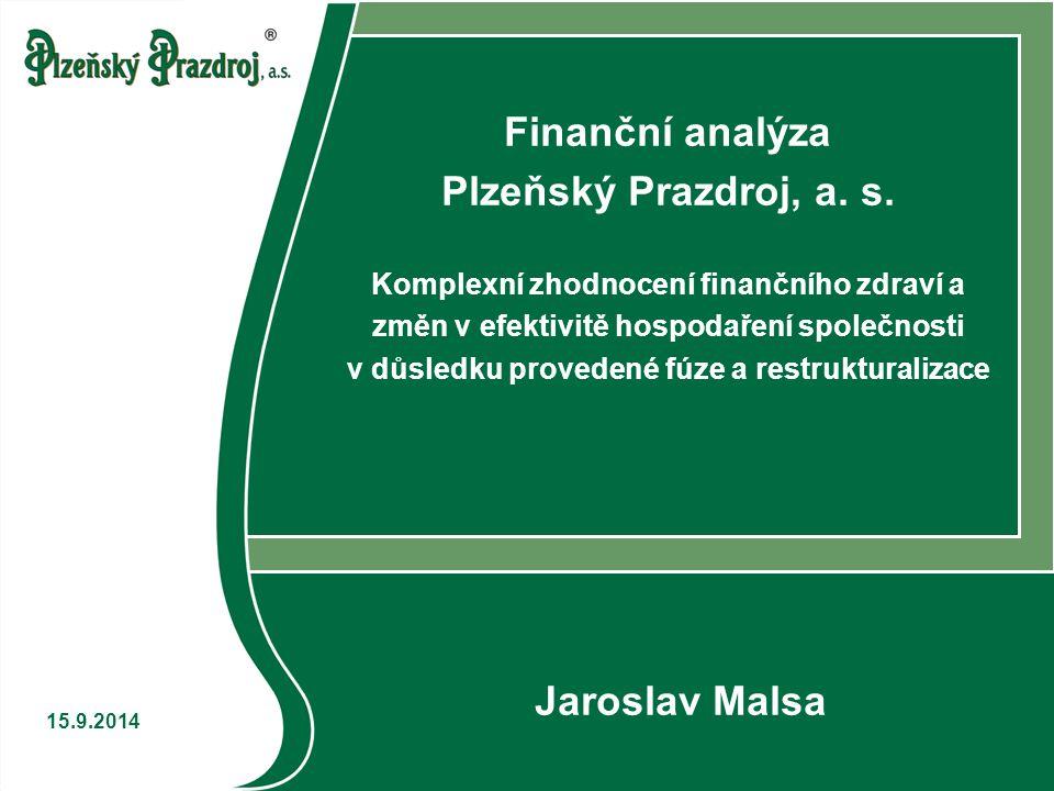 Finanční analýza 21 15.9.2014 Dodržování bilančních pravidel Z výše uvedeného je zřejmé, že ani jedno z bilančních pravidel není dodržováno Zlaté poměrové pravidlo nemohlo být ani vyhodnoceno – neznámá výše celkových investic v některých letech V praxi běžný jev, jejich dodržování je neudržitelné Zabraňuje využití finanční páky, zvyšuje náklady na kapitál… Oprávněnost požadavků bilančních pravidel je přinejmenším zpochybnitelná