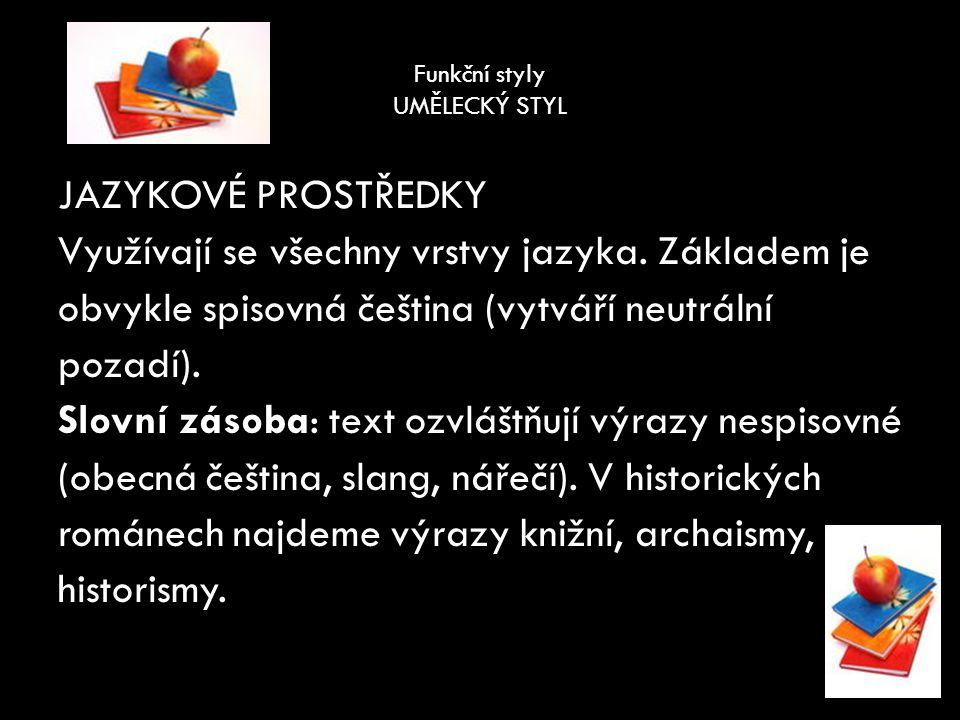 Funkční styly Zdroj: Vlastní práce autorky Hoffmannová, Jana, Ježková, Jaroslava, Vaňková, Jana.