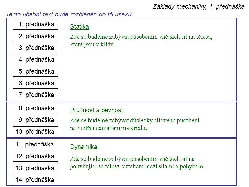 Tento učební text bude rozčleněn do tří úseků. 14. přednáška 10. přednáška 11. přednáška 12. přednáška 13. přednáška 1. přednáška 2. přednáška 3. před