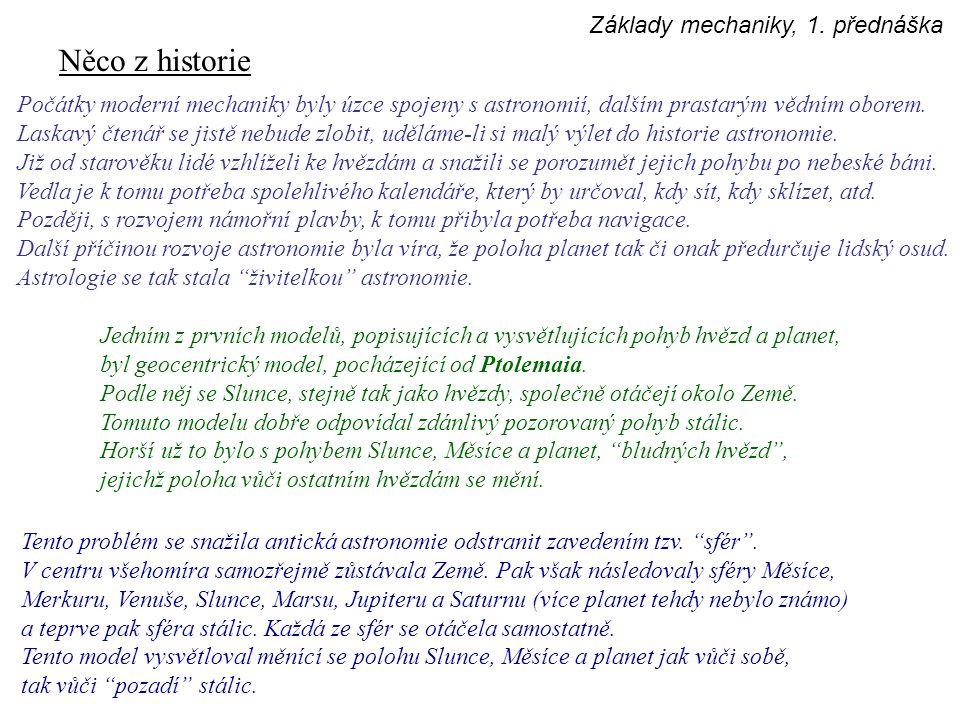 Něco z historie Teprve Mikuláš Koperník a jeho heliocentrický model přinesl náhled zásadně odlišný.