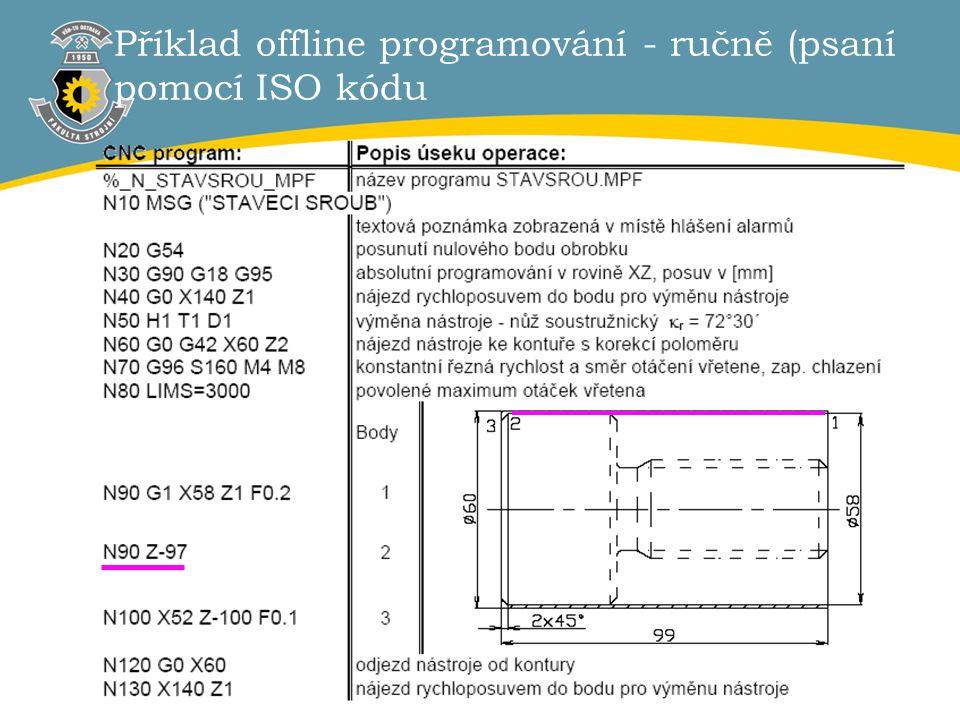 4 Příklad offline programování - ručně (psaní pomocí ISO kódu