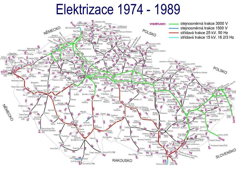 Elektrizace 1974 - 1989