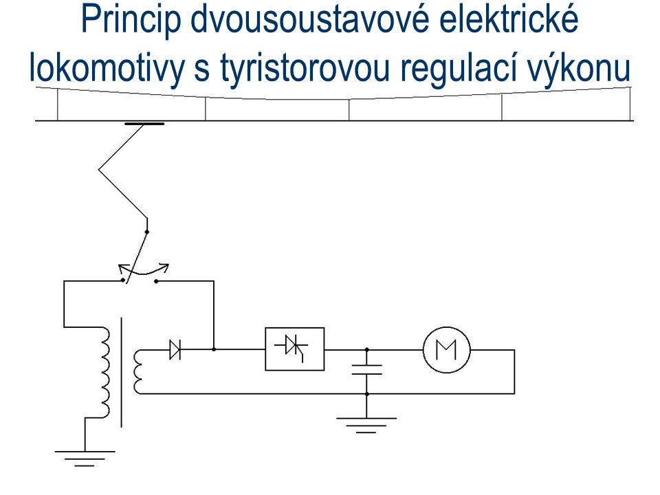 Princip dvousoustavové elektrické lokomotivy s tyristorovou regulací výkonu