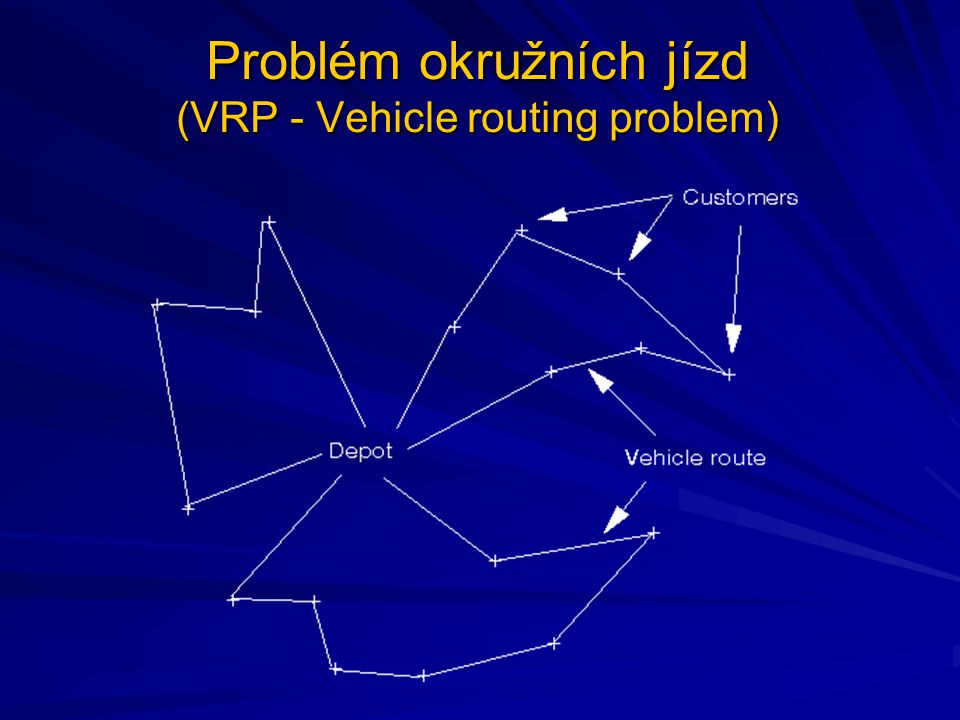 Problém okružních jízd (VRP - Vehicle routing problem)