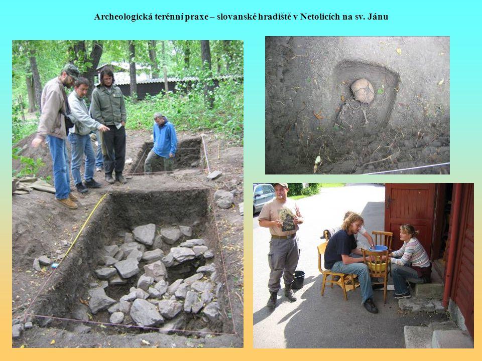 Archeologická terénní praxe – slovanské hradiště v Netolicích na sv. Jánu
