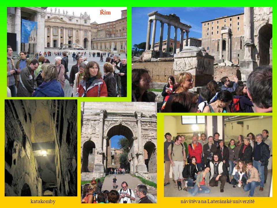 Řím katakombynávštěva na Lateránské univerzitě