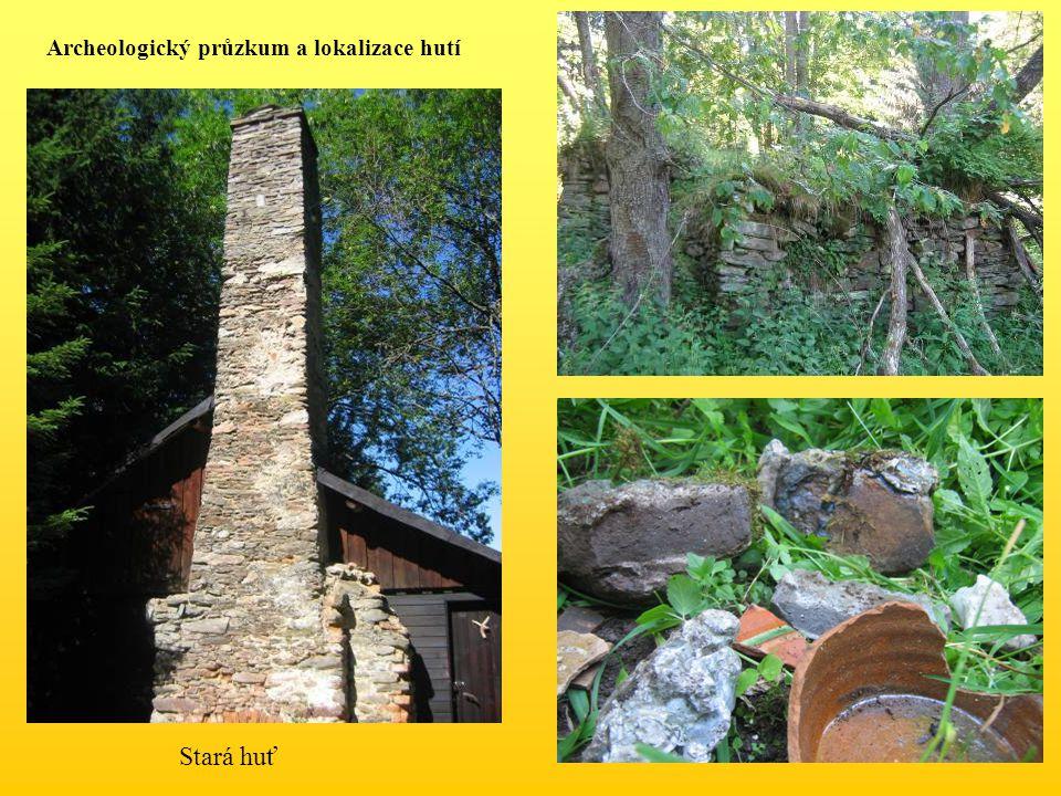 Stará huť Archeologický průzkum a lokalizace hutí