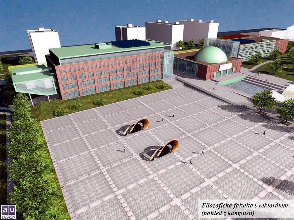 Filozofická fakulta s rektorátem (pohled z kampusu)