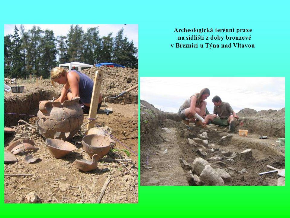 Archeologická terénní praxe na sídlišti z doby bronzové v Březnici u Týna nad Vltavou