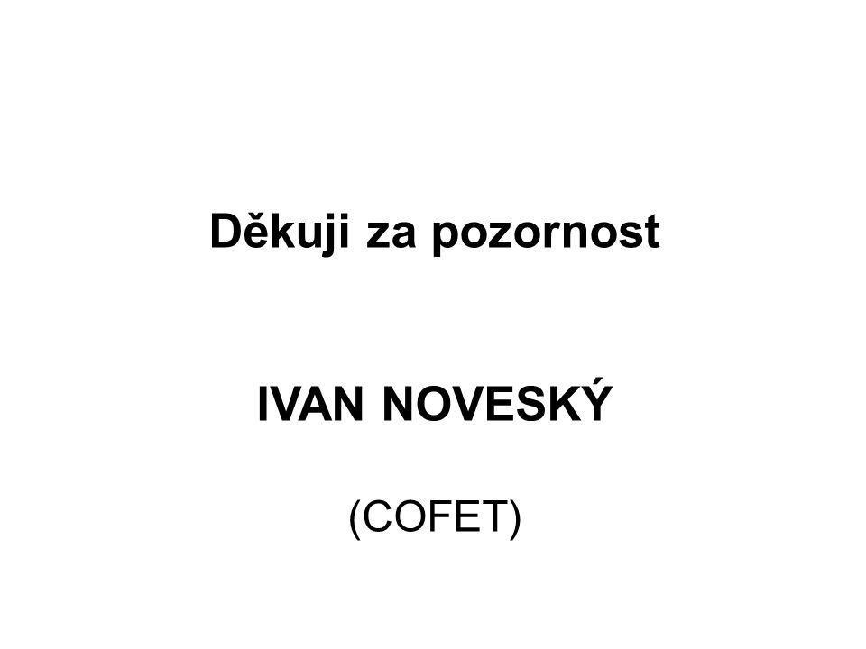 Děkuji za pozornost IVAN NOVESKÝ (COFET)