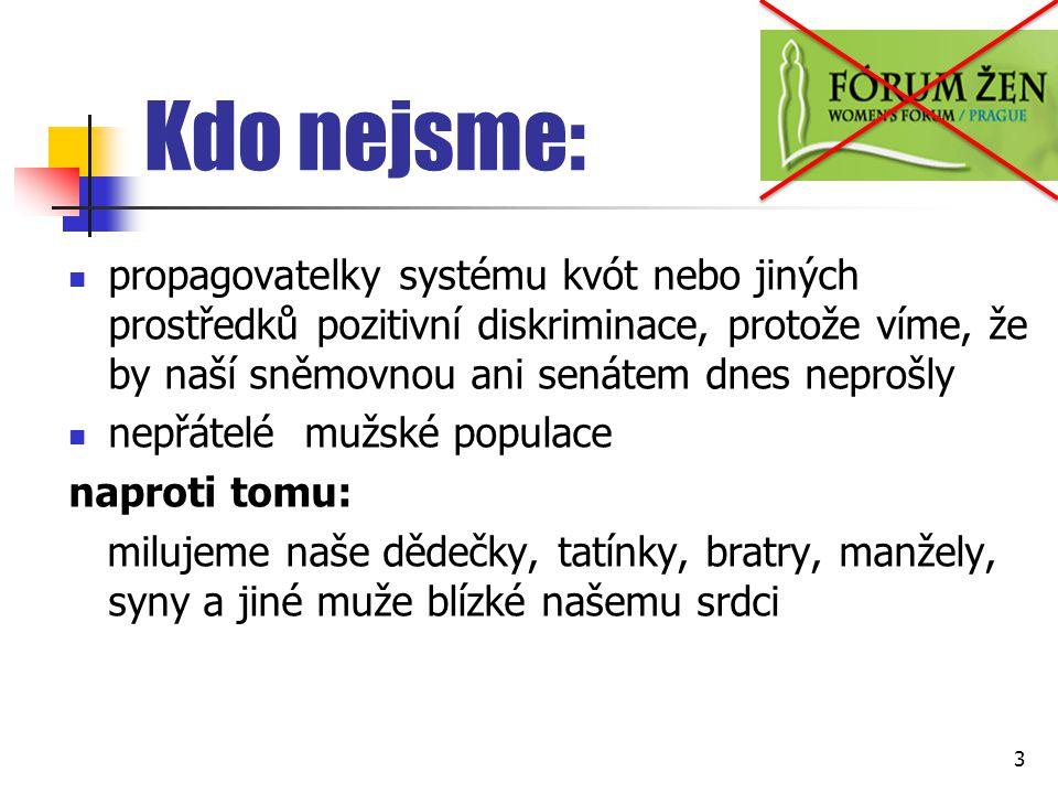 Skleněný strop Hlavní české politické strany, reprezentované většinou muži, přijaly v průběhu své letité hegemonie interní politické pravidlo sestavovat kandidátní listiny především z mužských kandidátů na volitelných místech Zhoršená volitelnost žen v rámci strany 14