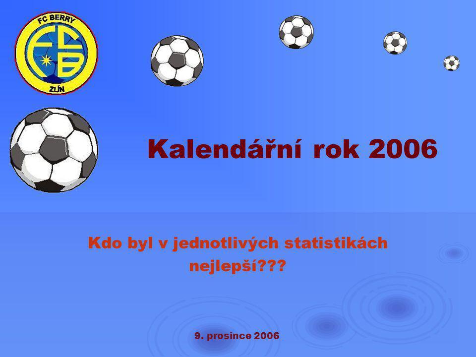 9. prosince 2006 Kalendářní rok 2006 Kdo byl v jednotlivých statistikách nejlepší