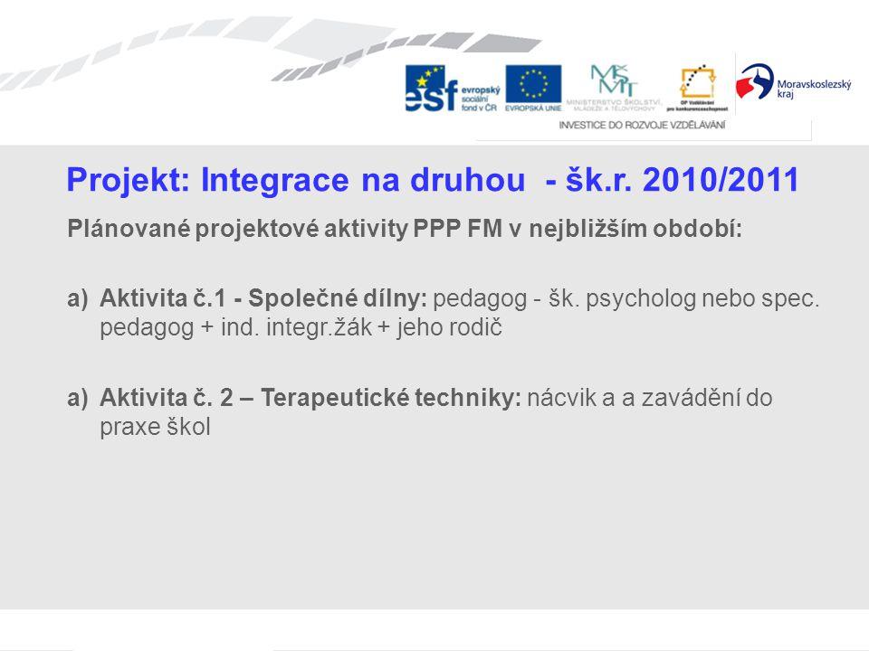 Projekt: Integrace na druhou - šk.r.