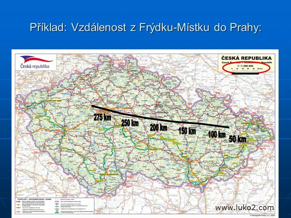 Příklad: Vzdálenost z Frýdku-Místku do Prahy: www.luko2.com