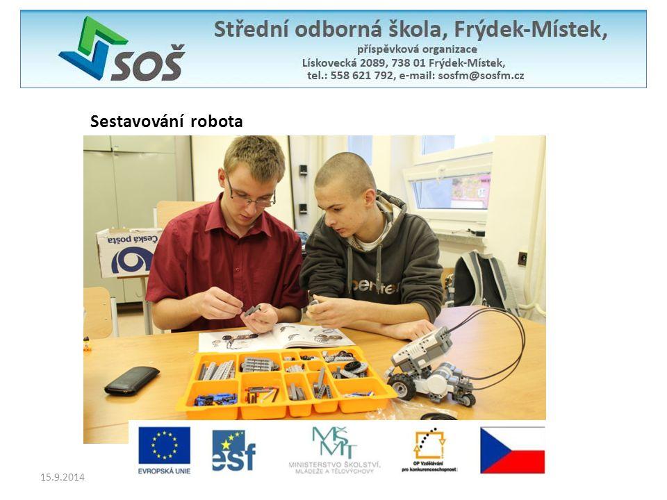 Sestavování robota 15.9.2014