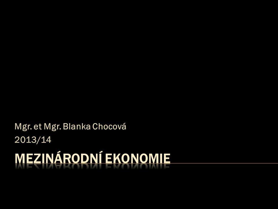 Mgr. et Mgr. Blanka Chocová 2013/14