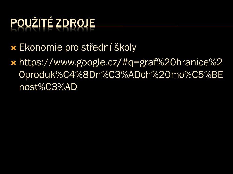  Ekonomie pro střední školy  https://www.google.cz/#q=graf%20hranice%2 0produk%C4%8Dn%C3%ADch%20mo%C5%BE nost%C3%AD