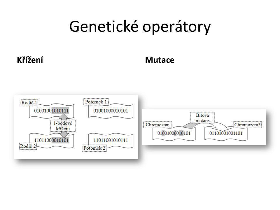 Genetické operátory KříženíMutace