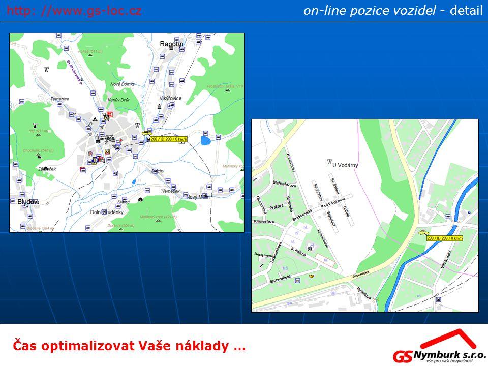 on-line pozice vozidel - detailhttp: //www.gs-loc.cz Čas optimalizovat Vaše náklady …