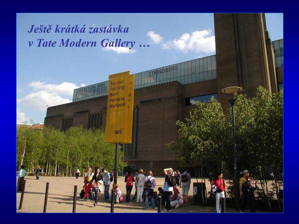 Ještě krátká zastávka v Tate Modern Gallery …