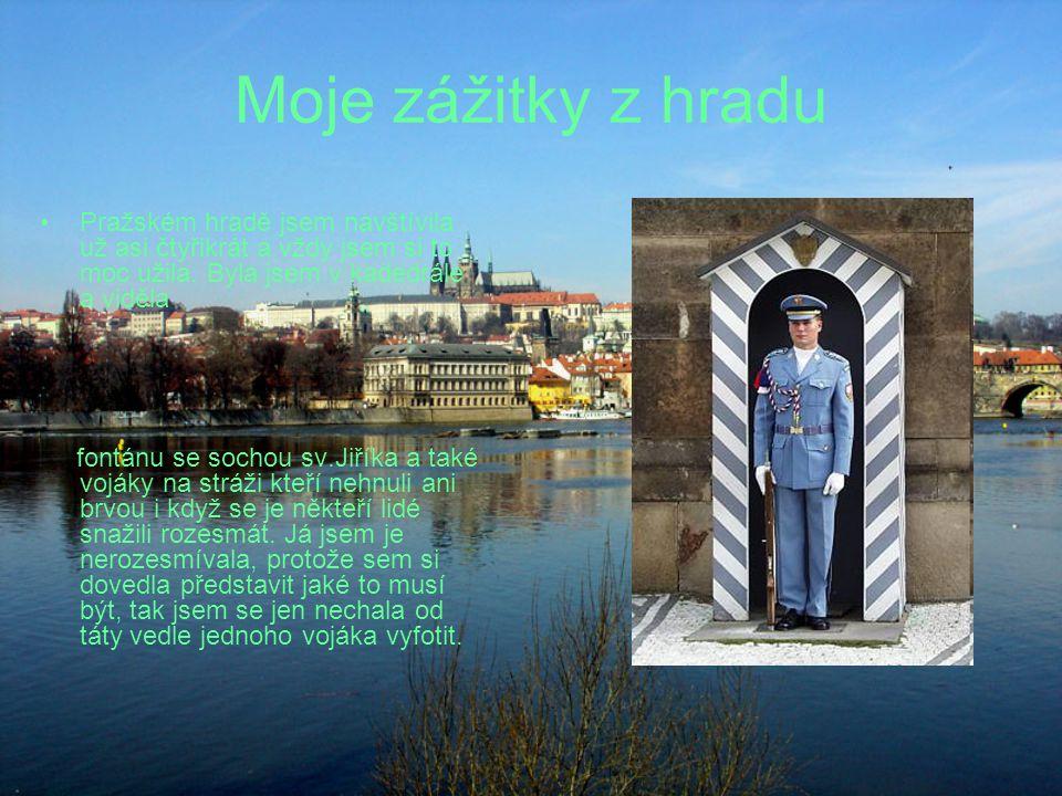 Moje zážitky z hradu Pražském hradě jsem navštívila už asi čtyřikrát a vždy jsem si to moc užila. Byla jsem v kadedrále a viděla fontánu se sochou sv.