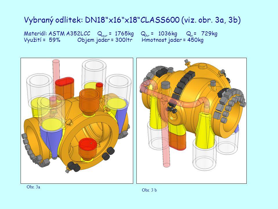 Vybraný odlitek: DN18 x16 x18 CLASS600 (viz. obr.