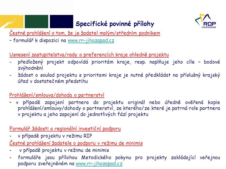 Čestné prohlášení o tom, že je žadatel malým/středním podnikem – formulář k dispozici na www.rr-jihozapad.czwww.rr-jihozapad.cz Usnesení zastupitelstv
