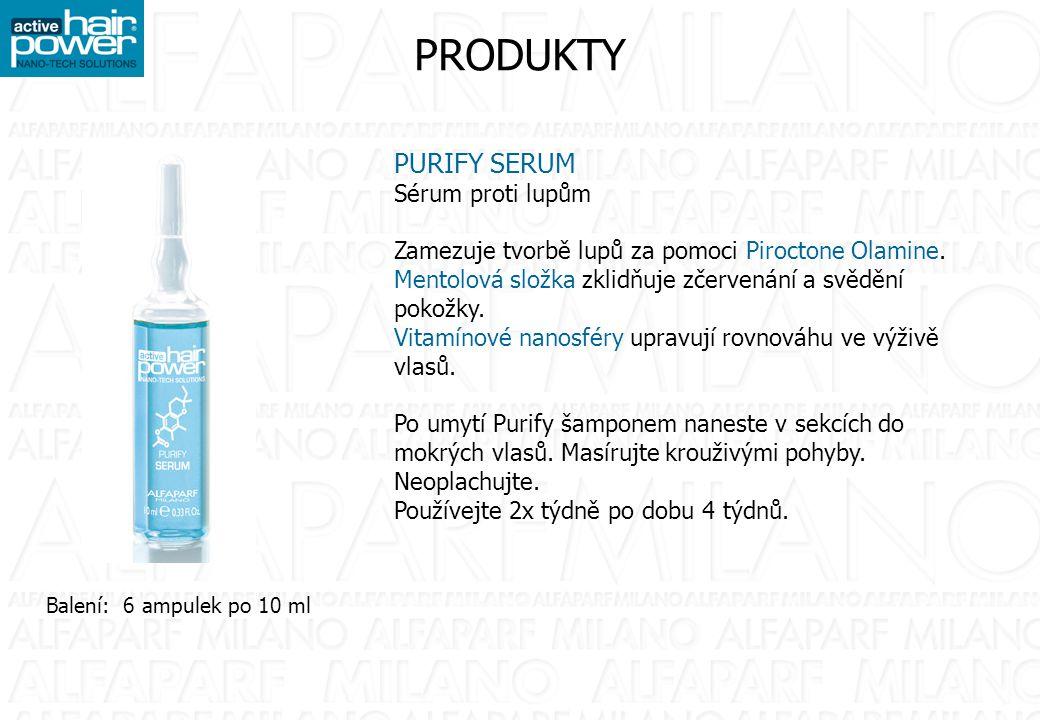 PRODUKTY BALANCE SHAMPOO Šampon na mastné vlasy Zamezuje rozšíření nadměrného mazu za pomoci Balance Complex, speciální komplex aminokyselin a vitamínů.