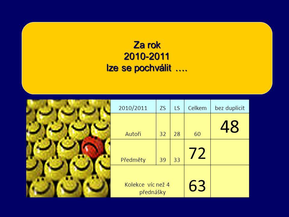 Za rok 2010-2011 lze se pochválit ….