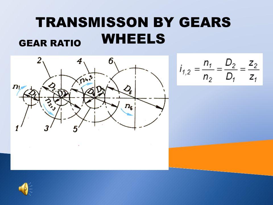 GEAR RATIO TRANSMISSON BY GEARS WHEELS