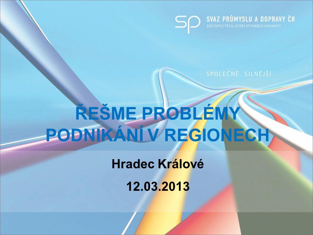 Hradec Králové 12.03.2013 ŘEŠME PROBLÉMY PODNIKÁNÍ V REGIONECH
