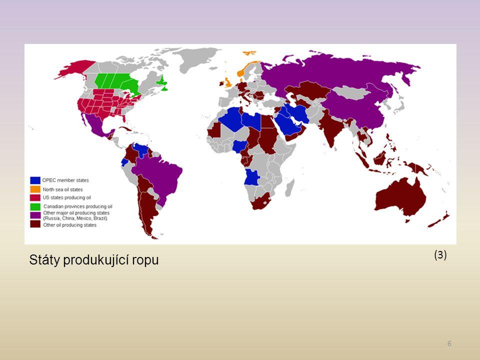 6 (3) Státy produkující ropu
