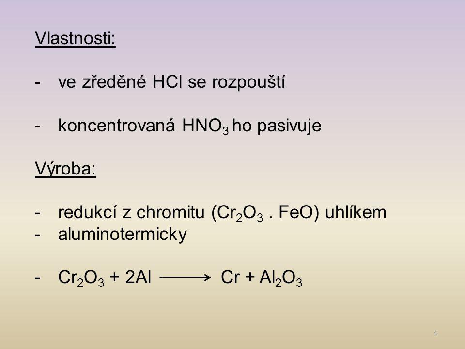 5 Chromit (2) Chrom získaný zonální tavbou (3)
