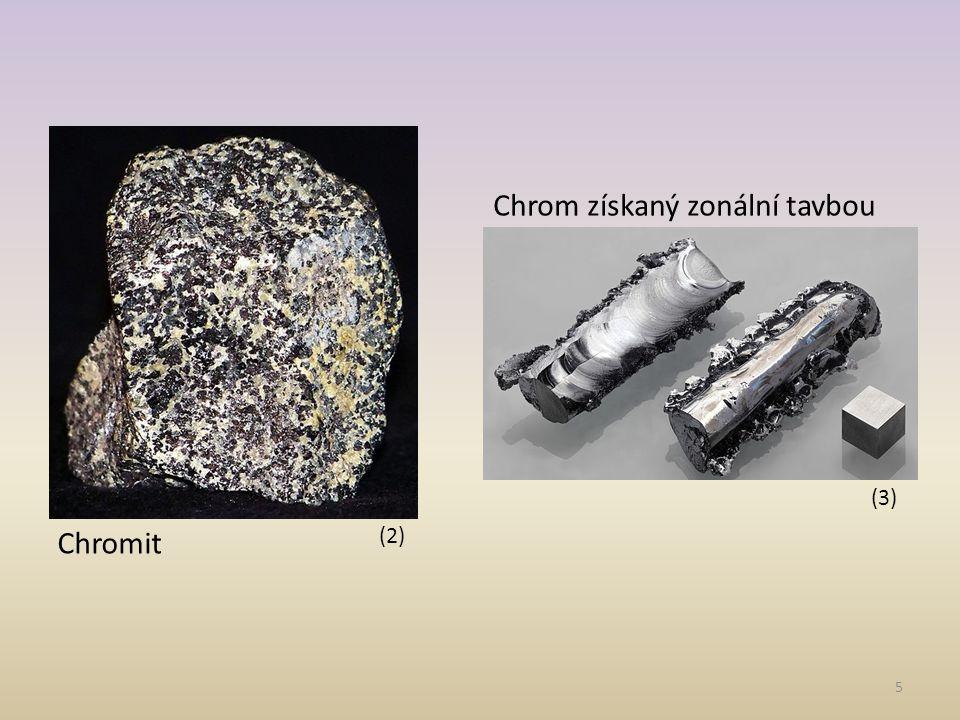 6 Využití: -výroba ocelí (ferrochrom) -galvanické pokovování (4)