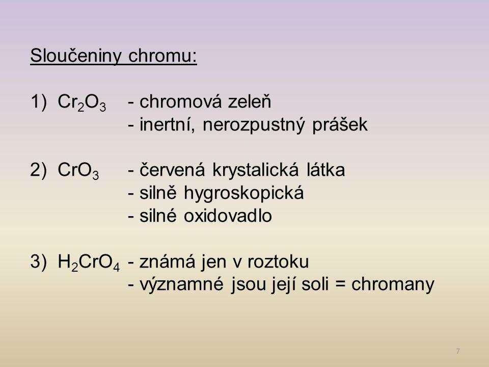 8 (6) (5) Dichroman draselný Chroman sodný
