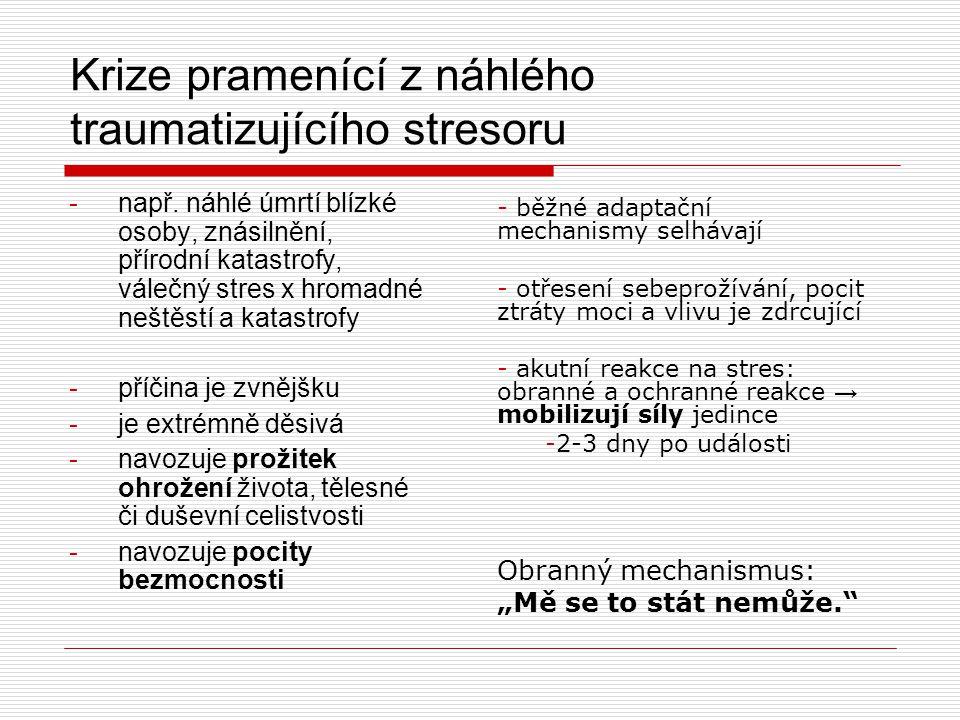Literatura  Baštecká, B.a kol. (2005). Terénní krizová práce.