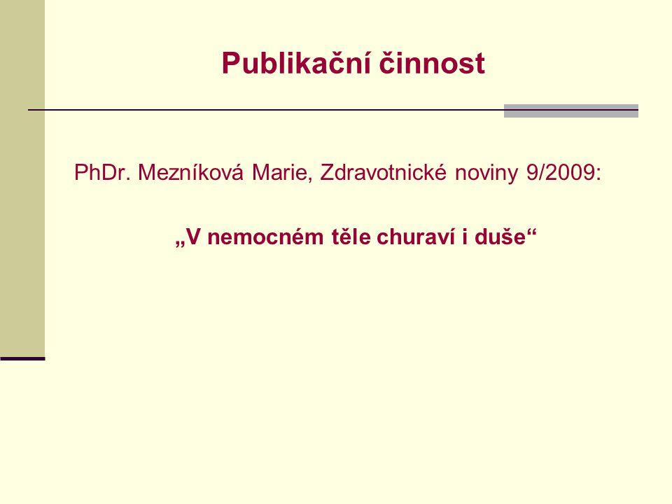 Publikační činnost PhDr.