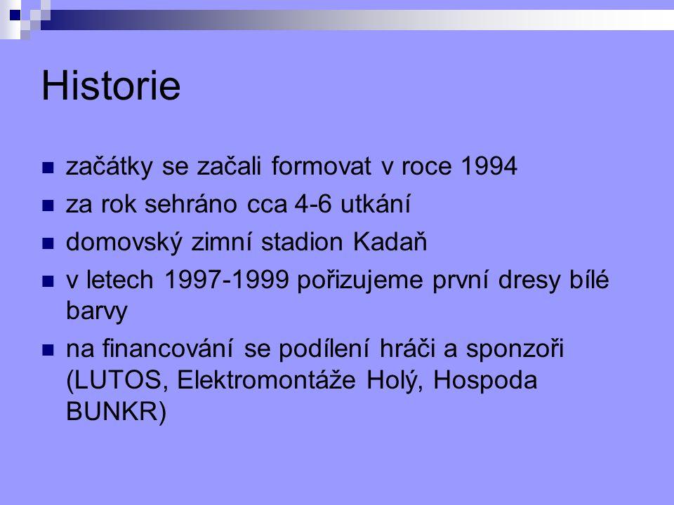 Sezona 2010/2011 Brankář: Jan Sidor, Miroslav Tyl Obrana: P.Strunz, M.Holý, M.Brynda, E.Kutnar, D.Kutnar Útok: M.Possolt, L.Bareš, S.Vopat, Z.Machyna, V.Fišer, K.Macháček, P.Daliman, M.Ryk, R.Novák, Z.Žmolek, M.Králík, J.Kadlec, M.Macala