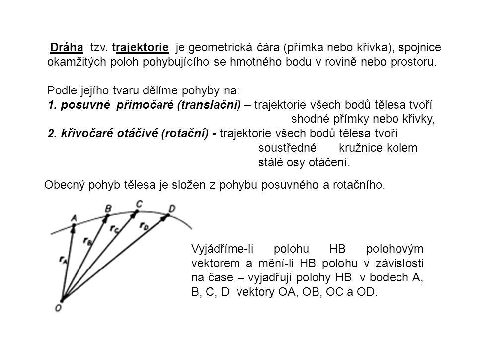Při rovnoměrném rotačním pohybu u strojů a zařízení se udává otáčivý pohyb Počtem otáček n za minutu.