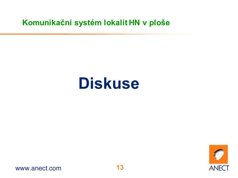 13 Komunikační systém lokalit HN v ploše Diskuse